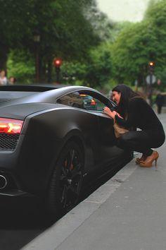 Lamborghini, matte black beauty