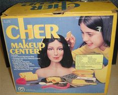Vintage toys 1977 toy Make up 1970s Mego brand cher makeup center hairstyling  doll head