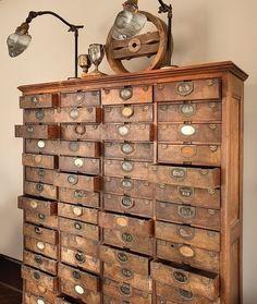 studio, dream, cabinet, old cards, librari, drawers, antiqu, art supplies, craft rooms