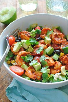 Exotic Chipotle Shrimp Salad Bowl