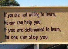 Determination. YOU decide. Always.