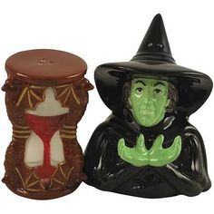 Wizard of Oz Salt Pepper Shakers - Hourglass and the Wicked Witch