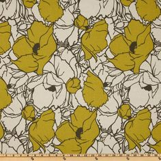Premier Prints Cottage Summerland Citrine/Natural from @fabricdotcom  Screen printed on natural cotton duck; this versatile medium weight fabric is perfect for window accents (draperies, valances, curtains and swags), accent pillows, duvet covers and upholstery. Create handbags, tote bags, aprons and more. *Use cold water and mild detergent (Woolite). Drying is NOT recommended - Air Dry Only - Do not Dry Clean. Colors include grey, citrine and natural.