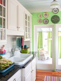 Cute little cottage kitchen! Love it!