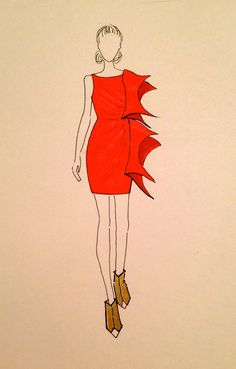 """""""The red dress Sasha wears to the dinner party. I think this is my favorite of all the dresses in the book."""" - Anna Jarzab #tandem"""