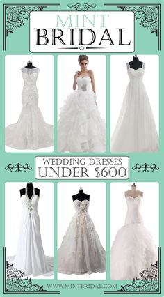 Custom Wedding Dress under $600. Budget wedding dresses from Mint Bridal. Send a picture of your dream dress and work with mint bridal to make it for under $600. #weddingdress #budgetwedding #customweddingdress #mintbridal #budgetbride