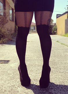 Curves to Kill...: Stockings, suspenders and stripes oh my!