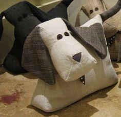 Cute Dog Doorstops - would make a cute pincushion!