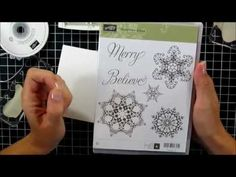 Snowflake Soiree One Layer Card Stampin' Up tutorial - This card she makes is really nice looking!  Need some simple quick cards!