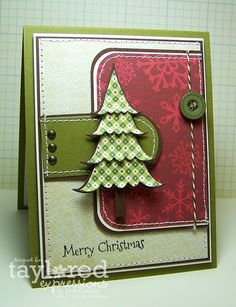 Love this layout; substitute tree and Xmas sentiment for b'day, baby shower, etc