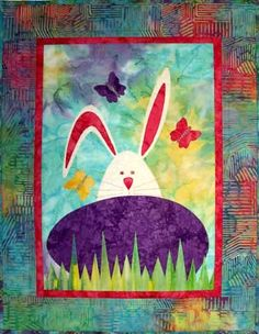 Quilt Inspiration Classics: Easter Quilts.  Bunny and Egg pattern by Castilleja Cotton