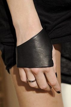 Leather hand cuff