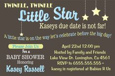 Boy Baby Shower Invitation - Editable - Twinkle Little Star Invitation via Etsy