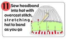 Instructions for lining hats with polar fleece.