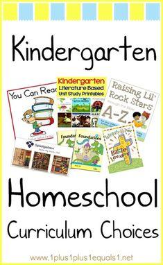 Kindergarten Homeschool Curriculum Choices from www.1plus1plus1equals1.net