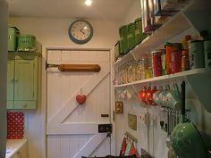 vintage-style kitchen...