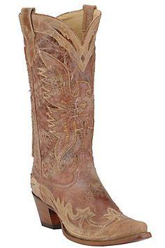 cowgirl boots, cowboy boots, antiqu cognac, cognac cream, corral ladi, ladi antiqu, shoe, cream boot, antiques
