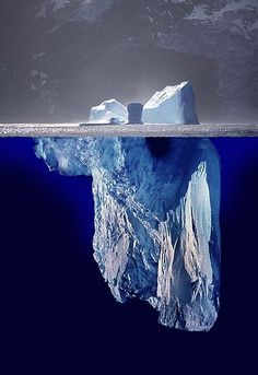 Iceberg above and below the water line.
