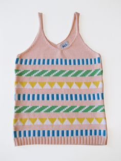 CM Sticker Stripe Tank by Annie Larson