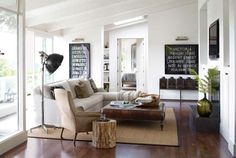 modern country living room (Country Living)