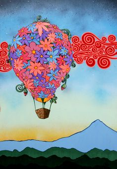 """Cooper Mountain Sunrise"" 34""x36"" Mixed media on canvas"