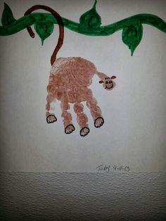 Hand print monkey