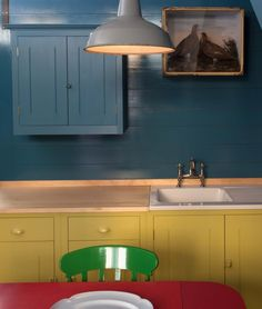 multi colored cabinets from British Standard | Remodelista