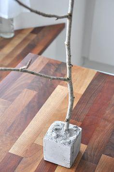 DIY:Arbol de ramas y posavelas Nórdico #DIY #tableset #branch #ideas #ornaments #inspiration