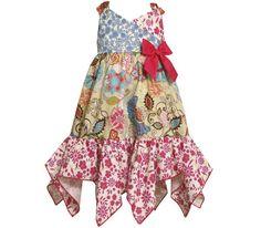Bonnie Jean Summer Boho Trendy Hanky Hem Maxi Dress 12 month - 4T  $23.99