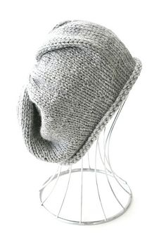 Knit slouchy hat free pattern