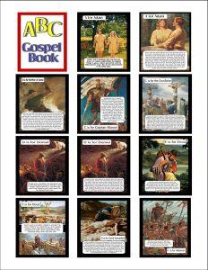 Gospel ABC Booklet 4 x 6 cards