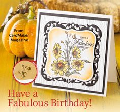 Have a Fabulous Birthday! from the Autumn 2014 issue of CardMaker Magazine. Order a digital copy here: http://www.anniescatalog.com/detail.html?code=AM5254