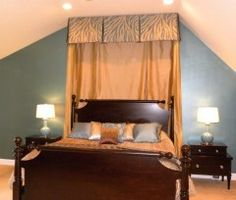 valance and drape to frame bed