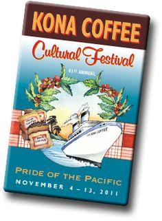 kona coffe, favorit place, coffe festiv, coffe lover, hawaiian island