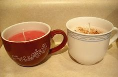 Homemade teacup candles - cute gift idea