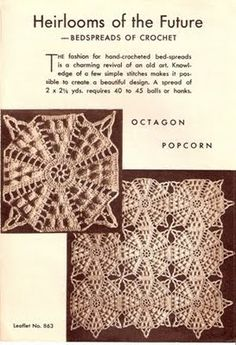 free vintage crochet patterns doili, vintag motif, crochet motif, crochet block, craft patterns, vintage crochet, crochet patterns, vintag crochet, crochet bedspread