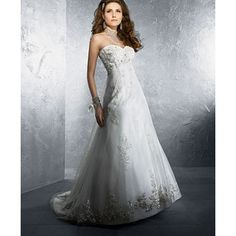 Satin, Lace with Metallic Wedding Dress
