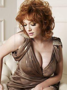 Christina Hendricks luscious cleavage ~ oh my