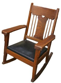 Arts & Crafts Rocking Chair - Aurora Mills Architectural Salvage