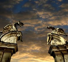 Dragons at the end of the gate, Rome |Pinned from PinTo for iPad|