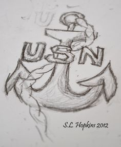 people now and days wear anchors as a fashion. but its more to me then anyone else. the anchor symbolizes the men in the United States Navy. the same navy that my grandpa and all my uncles were in. this is a tattoo design that i sketched out my self from a navy locket that my grandpa gave my grandmother before he died of cancer. so everyone when you see an anchor in a fashion store, dont think its cute or fashionable, think about all the men (and now women)  in the navy that help keep us safe. navi tattoo, us navy tattoos, united states navy tattoo, navy tattoo ideas, a tattoo, anchor