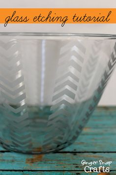 Glass Etching Tutorial!