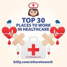 Top 30 Places to Work in Healthcare! #nursing #nurses #career #jobs #tips