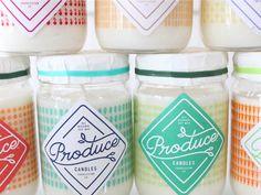 produc candl, candl label, candl design, candl packag, color, candles, stitch design, brand, packag design
