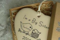 CUSTOM  I'm a Big Sister Christmas Porcelain by aphroditescanvas