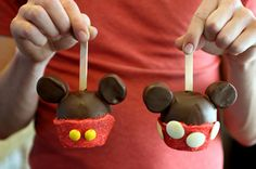 Mickey cakes on a stick : )