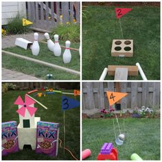 Just a few days of summer left! If you haven't made it to a putt-putt course, make your own! #kidcrafts