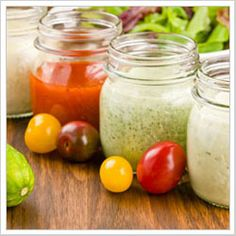 5 salad dressing recipes: classic vinaigrette, blue cheese, french, green goddess and buttermilk ranch