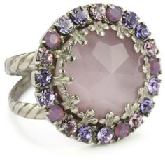 Purple glam ring