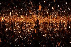 yayoi kusama light installation
